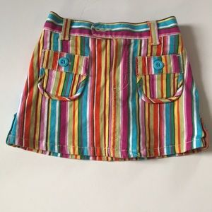Multicolor striped mini skort